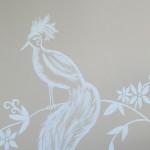 Ptak na ścianie