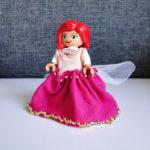 Różowa suknia dla mini Kopciuszka